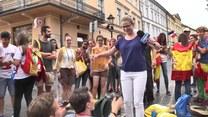 Pielgrzymi opanowali krakowski rynek