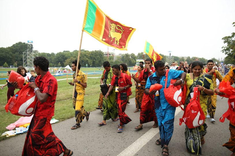 Pielgrzymi ze Sri Lanki, uczestnicy ŚDM na krakowskich Błoniach /Stanisław Rozpędzik /PAP