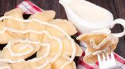 Pierogi czekoladowe z jabłkiem i serem według Bosackiej
