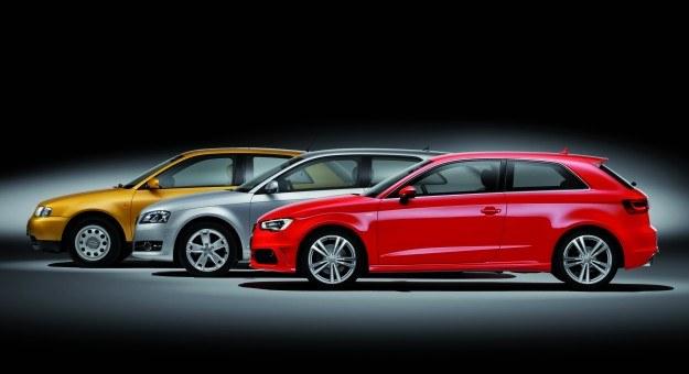 Pierwsza generacja Audi A3, bazująca na VW Golfie IV, dostępna była jako 3- i 5-drzwiowy hatchback. Drugie wcielenie modelu, spokrewnione z Golfem V, oferowano także jako kabriolet z miękkim dachem. /Audi