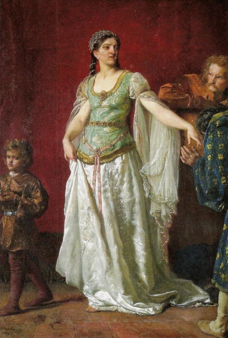 Pierwsza polska królowa na obrazie Wojciecha Gersona (źródło: domena publiczna) /Ciekawostki Historyczne