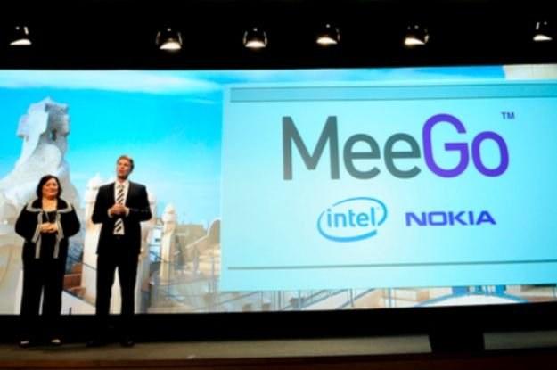 Pierwsza prezentacja MeeGo, podczas targów MWC 2010 w Barcelonie /AFP