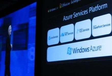 Pierwsza prezentacja Windows Azure - Los Angeles 2008 rok /AFP