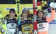 Pierwsza trójka konkursu w Kuopio