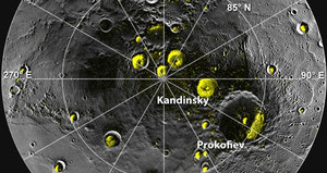 Pierwsze optyczne obserwacje lodu na Merkurym