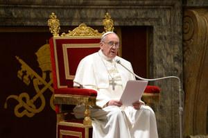 Pierwsze spotkanie papieża Franciszka z dziennikarzami