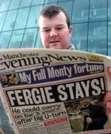 Pierwsze strony gazet w Manchesterze są pełne informacji o pozostaniu Fergusona