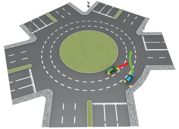 Pierwszeństwo ma samochód z prawej /INTERIA.PL