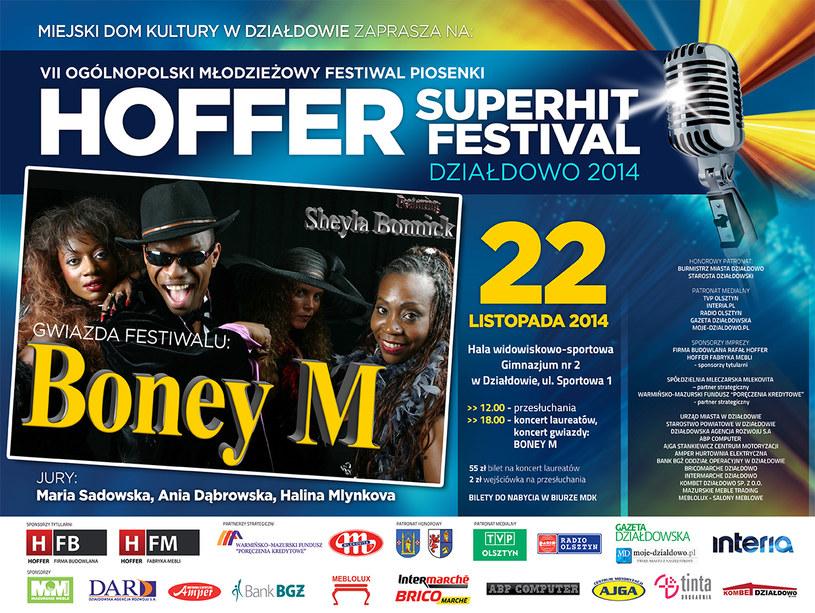 Pierwszy dzień festiwalu to zmagania festiwalowe i wieczorna Gala Laureatów, której gwiazdą będzie zespół Boney M /materiały prasowe