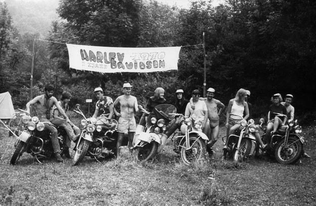 Pierwszy powojenny zjazd polskich harleyowców. Bieszczady 1970 rok. /INTERIA.PL