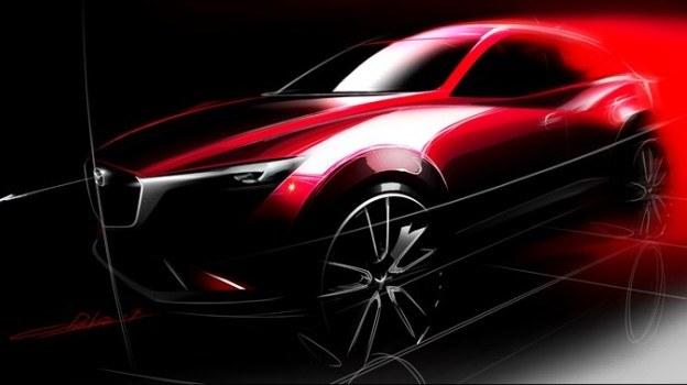 Pierwszy szkic prototypu CX-3. Biorąc pod uwagę dotychczasową politykę Mazdy, można przypuszczać, iż jego design będzie bardzo zbliżony do wyglądu produkcyjnej wersji modelu. /Mazda