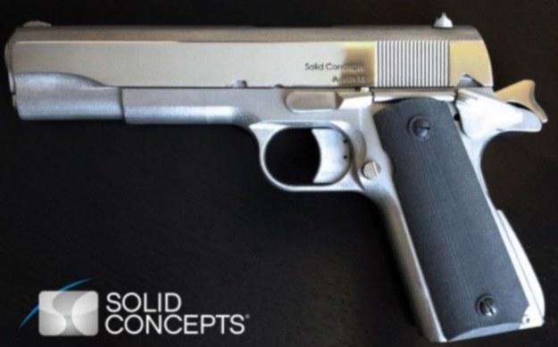 Pierwszy w pełni metalowy pistolet z drukarki 3D /materiały prasowe
