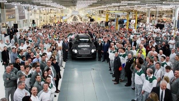 Pierwszy wyprodukowany Bentley Bentayga /Bentley