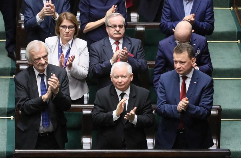 Pierwszy z lewej: Wicemarszałek Sejmu Ryszard Terlecki /Leszek Szymański /PAP