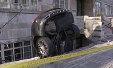 Pijany kierowca wjechał w budynek i wyszedł z wypadku bez szwanku
