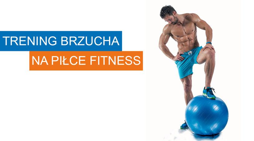 Piłka fitnessowa to najlepszy przyrząd do ćwiczenia mięśni brzucha /INTERIA.PL