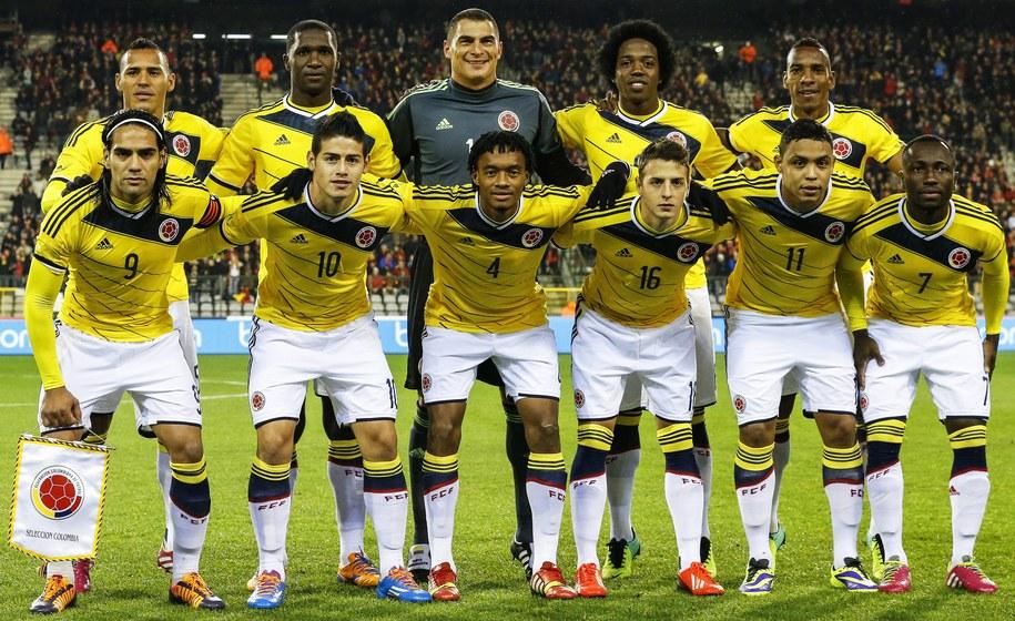 Piłkarska reprezentacja Kolumbii /PAP/EPA/THIERRY ROGE /PAP/EPA