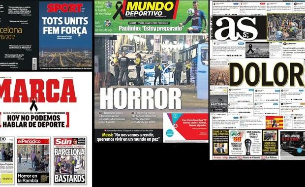 """Piłkarski świat w szoku po ataku w Barcelonie. """"Dziś nie możemy mówić o sporcie"""""""
