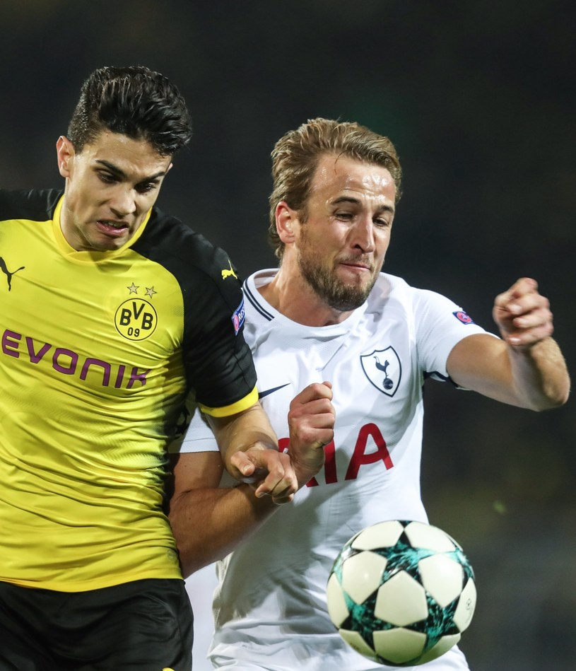 Piłkarz Borussii Marc Bartra (z lewej) i as Tottenhamu - Harry Kane /PAP/EPA