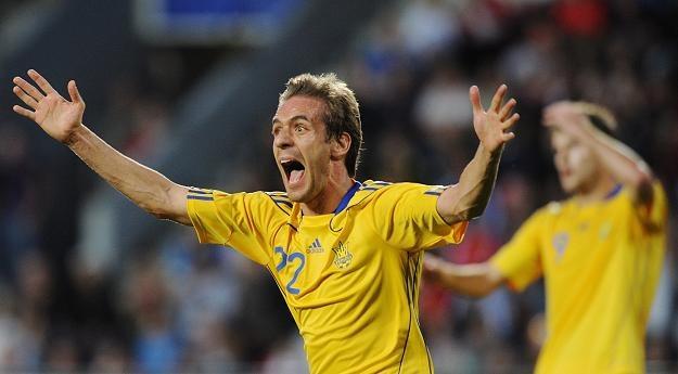 Piłkarz Ukrainy Marko Devic wściekły podczas meczu z Czechami /PAP/EPA