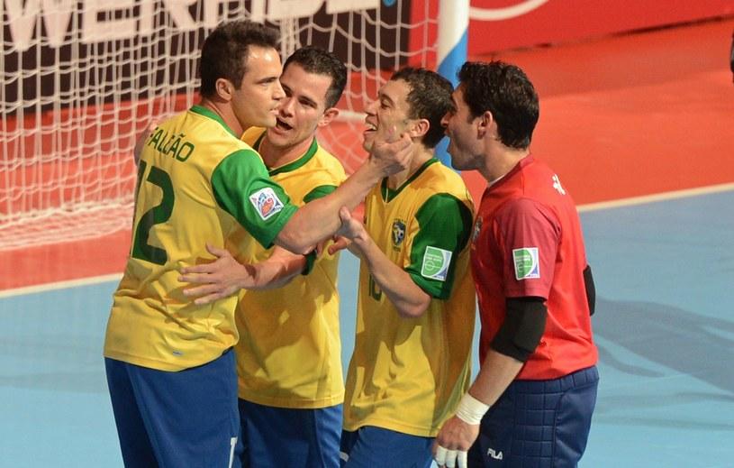 Piłkarze Brazylii /AFP