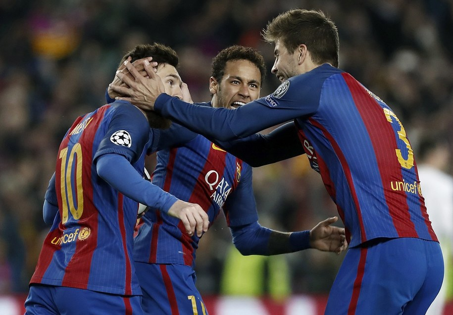 Piłkarze FC Barcelony /ANDREU DALMAU /PAP/EPA