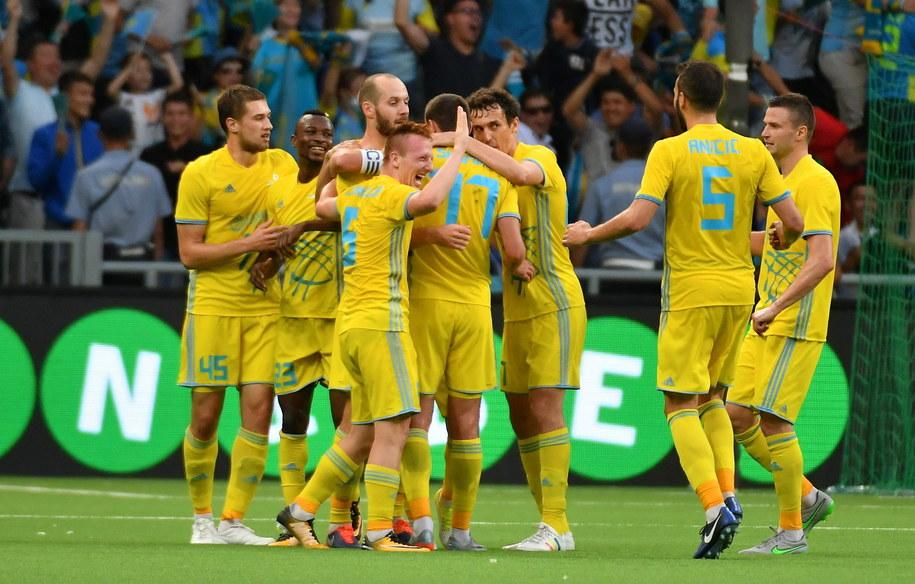 Piłkarze FK Astana /Ivan Maevski /PAP/EPA