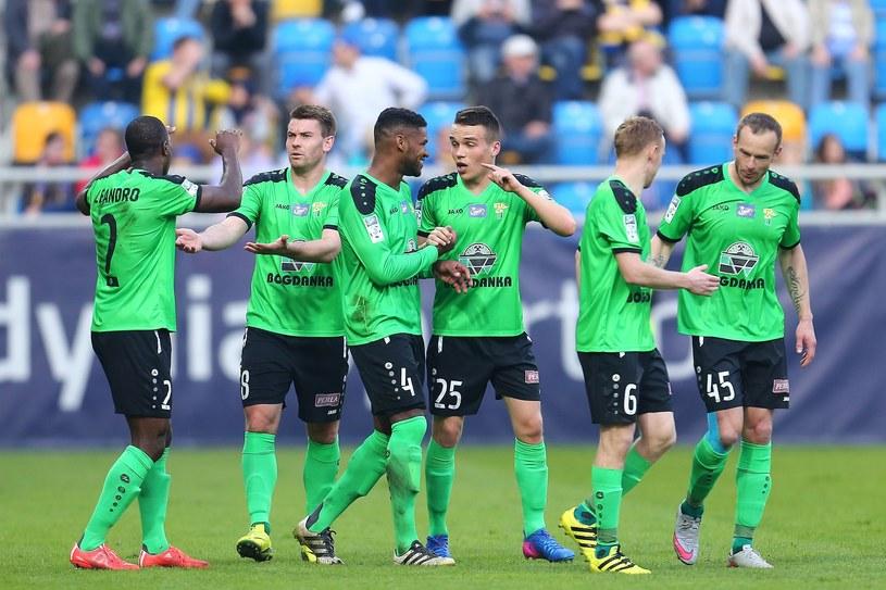 Piłkarze Górnika Łęczna /Piotr Matusewicz /East News