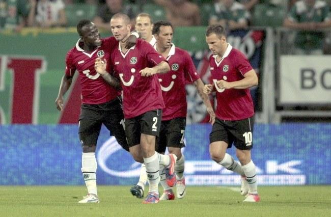 Piłkarze Hannover 96 /Aleksander Koźmiński /PAP
