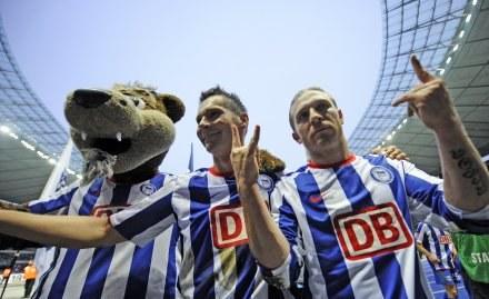 Piłkarze Herthy mają powody zadowolenia. /AFP