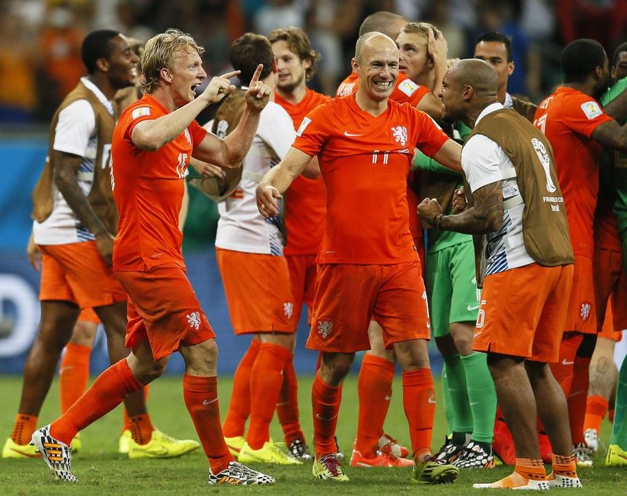 Piłkarze Holandii /YURI KOCHETKOV /PAP/EPA