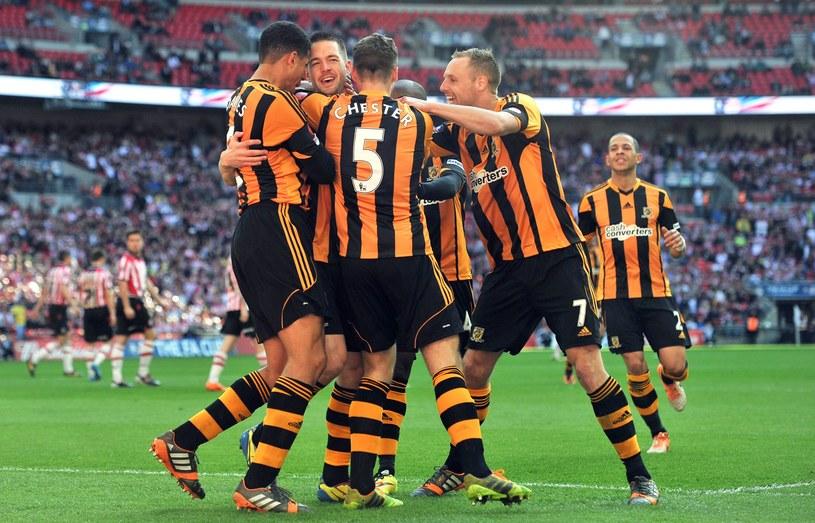 Piłkarze Hull City świętują awans do finału Pucharu Anglii /AFP