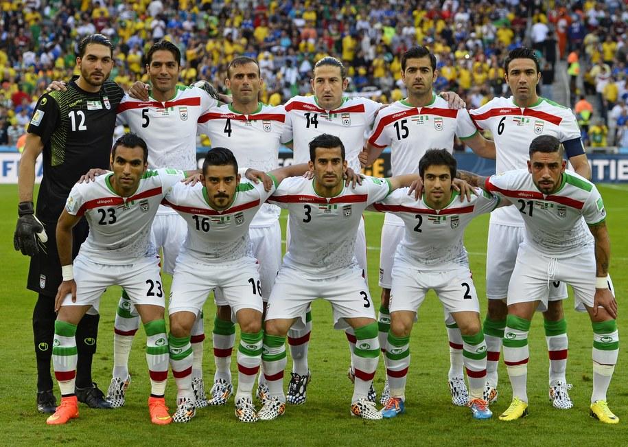 Piłkarze Iranu przed meczem z Nigerią /CJ GUNTHER /PAP/EPA