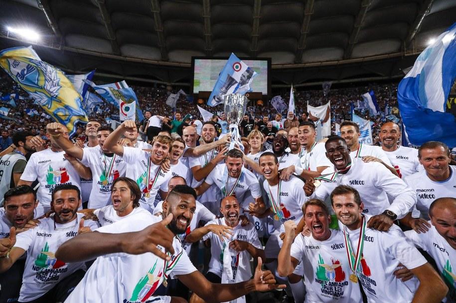 Piłkarze Lazio zdobyli Superpuchar Włoch /ANGELO CARCONI /PAP/EPA