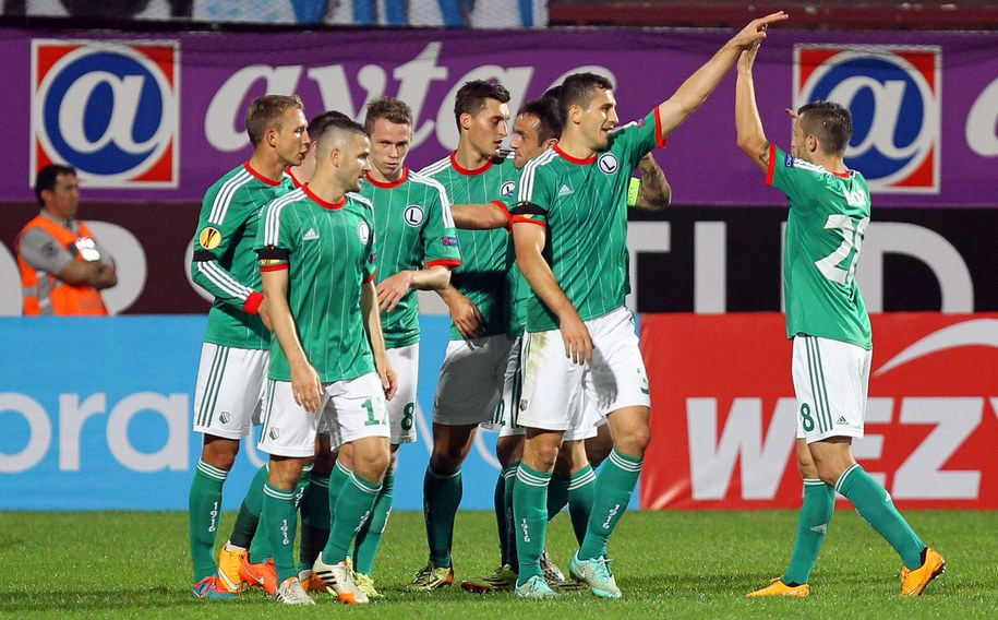 Piłkarze Legii Warszawa wygrali z Trabzonsporem /STR /PAP/EPA