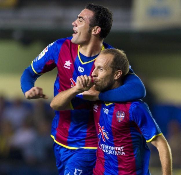 Piłkarze Levante przeżywają wielkie dni - są na szczycie Primera Division /AFP