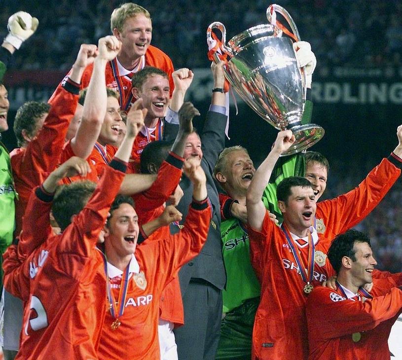Piłkarze Manchesteru United świętują triumf w Lidze Mistrzów /AFP