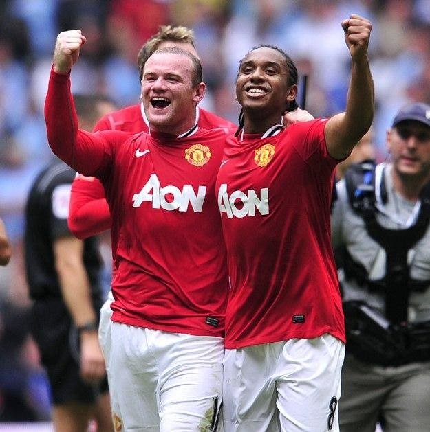Piłkarze Manchesteru United Wayne Rooney i Anderson /AFP
