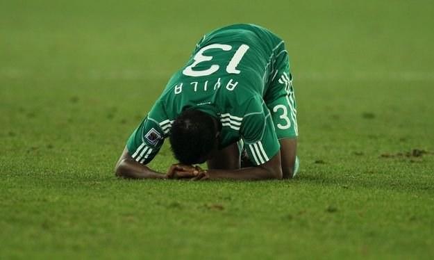 Piłkarze Nigerii kiepsko zaprezentowali się na mundialu w RPA /AFP