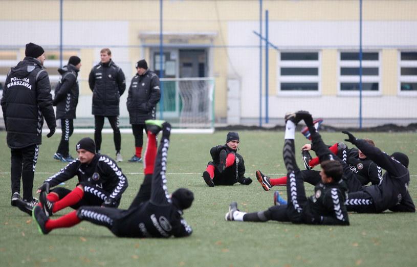 Piłkarze Polonii na pierwszym treningu /Leszek Szymański /PAP