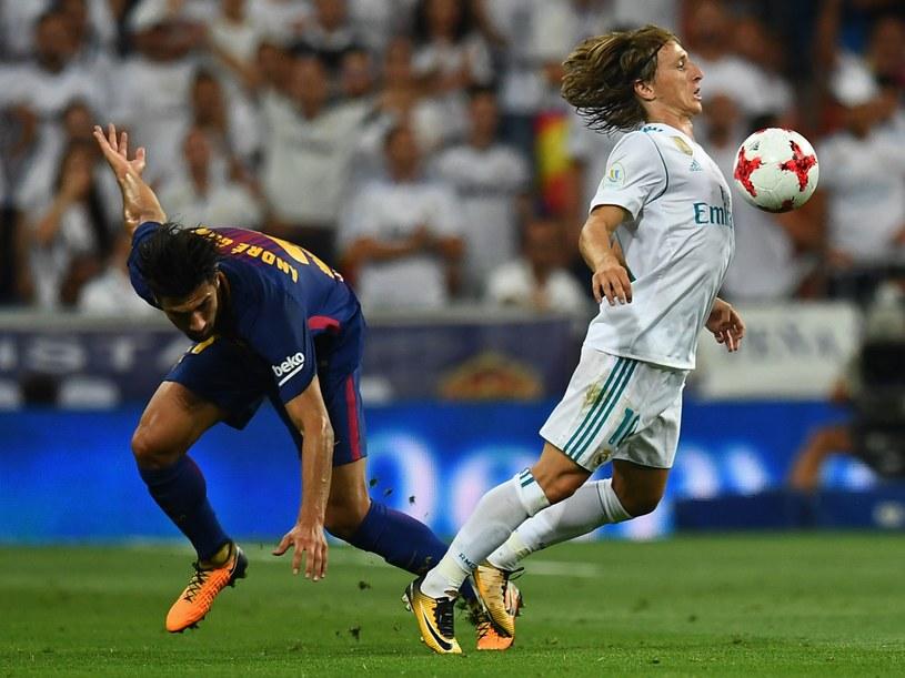 Piłkarze Realu i Barcelony /AFP