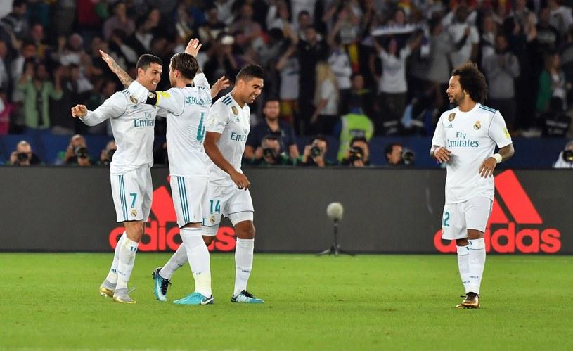 Piłkarze Realu Madryt cieszą się ze strzelenia gola w finale KMŚ /AFP