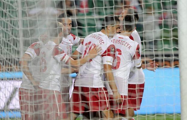 Piłkarze reprezentacji Polski fot: Bartłomiej Zborowski /PAP
