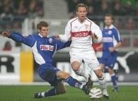 Piłkarze VfB Stuttgart nie dali szans Hansie Rostock /AFP