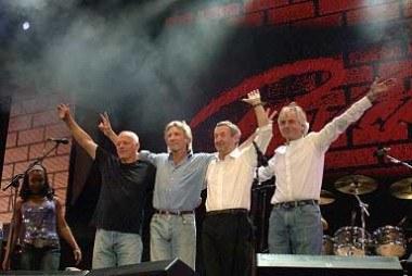 Pink Floyd na Live 8 (od lewej David Gilmour, Roger Waters, Nick Mason i Rick Wright) /arch. AFP