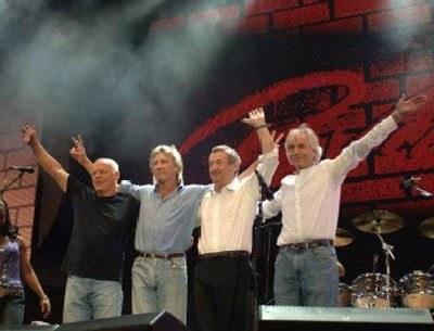 Pink Floyd podczas Live 8 /AFP