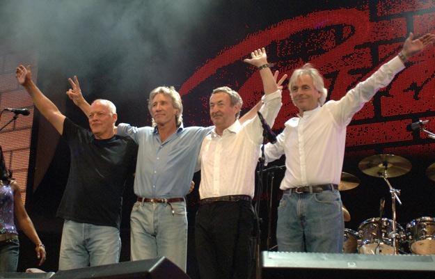 Pink Floyd w 2005 roku. Ostatni wspólny występ przed śmiercią Ricka Wrighta (z prawej) /arch. AFP