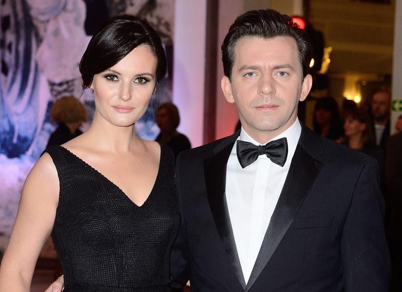 Piotr Głowacki z żoną Agnieszką /MWMedia