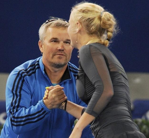Piotr i Karolona Woźniacki /AFP