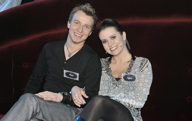 Piotr Kupicha z żoną Agatą /Gałązka /AKPA